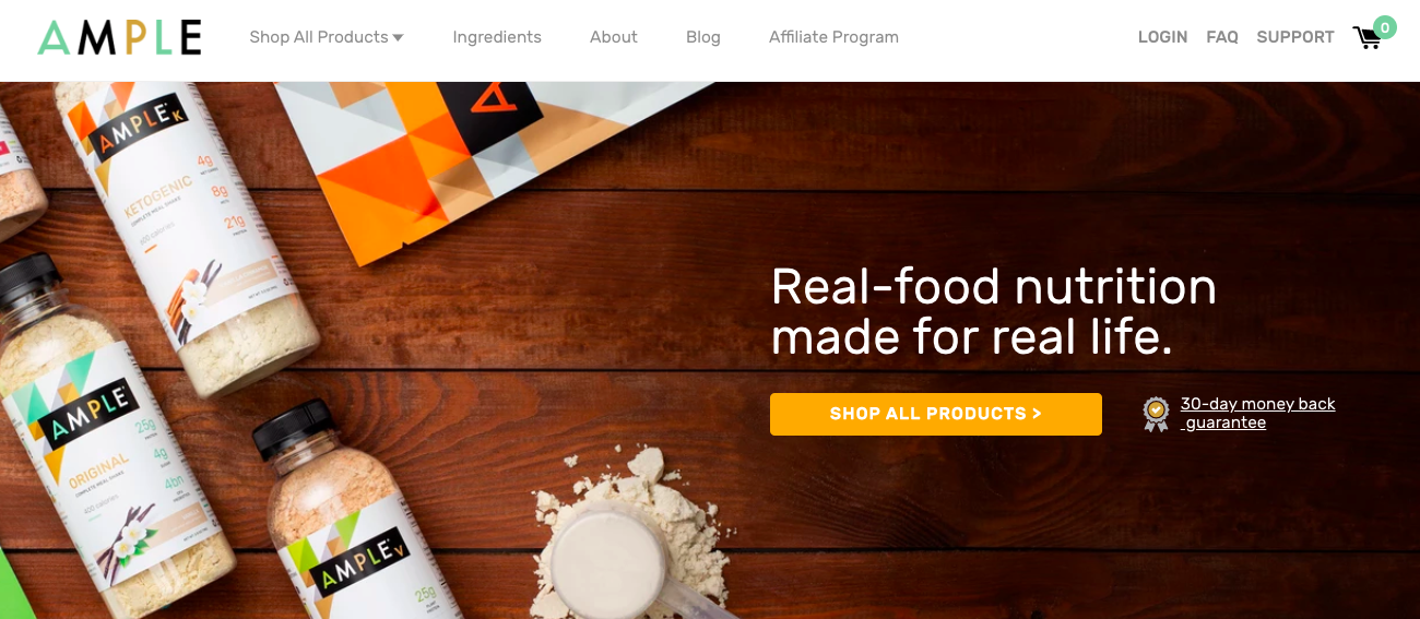 ample meal - shopify websites