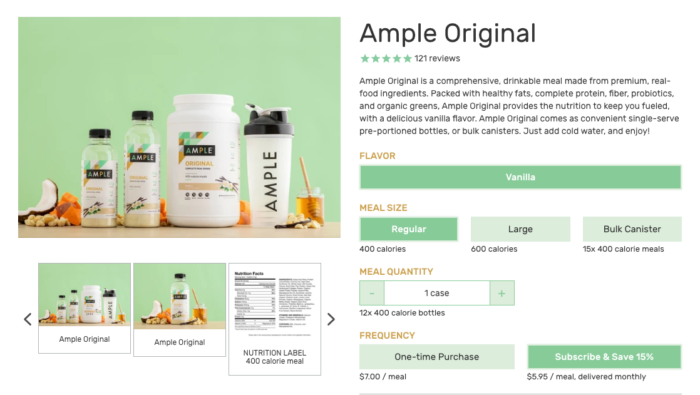 ample foods subscription