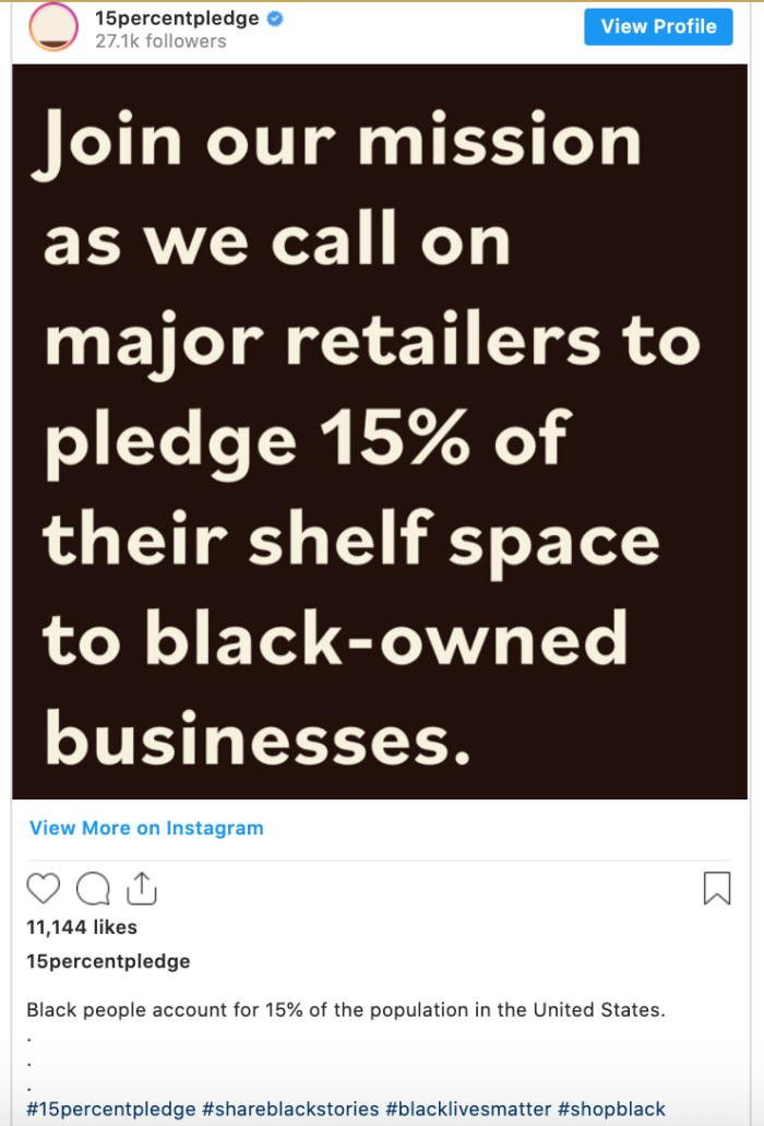 Aurora James 15% pledge calling on retailers to buy from more black-owned businesses